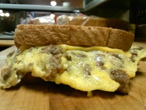 Sausage, egg, & cheese sandwich